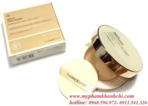 PHẤN GOLD COLLAGEN AMPOULE TWO-WAY PACT THEFACESHOP