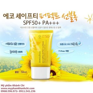 KEM CHỐNG NẮNG INNISFREE ECO SAFETY NO SEBUM SUNBLOCK SPF50 PA+++