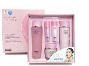 Bộ dưỡng da cao cấp 3w clinic flower effect extra moisturizing skin care set- Hàn Quốc