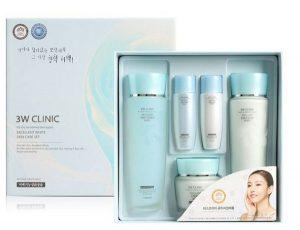Bộ mỹ phẩm dưỡng trắng da 3w cilic skin care set – Hàn Quốc