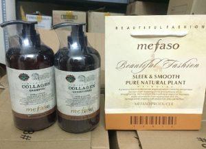 Bộ dầu gội + xả collagen mefaco- italya- 850ml / chai